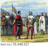 Edward the Black Prince (1330-1376), in 1367 requesting Pedro I (Peter) the Cruel of Castile (2016 год). Редакционное фото, агентство World History Archive / Фотобанк Лори