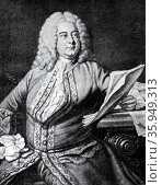 Portrait of George Frideric Handel. Редакционное фото, агентство World History Archive / Фотобанк Лори