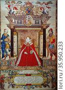 Elizabeth I Saxton Atlas. Редакционное фото, агентство World History Archive / Фотобанк Лори