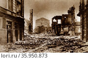 Photographic print of the Bombing of Guernica as part of Operation Rügen. Редакционное фото, агентство World History Archive / Фотобанк Лори
