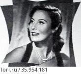 Photograph of Michèle Morgan. Редакционное фото, агентство World History Archive / Фотобанк Лори