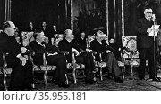 Photograph taken during the Brussels Treaty. Редакционное фото, агентство World History Archive / Фотобанк Лори