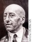 Photograph of Gabriele D'Annunzio. Редакционное фото, агентство World History Archive / Фотобанк Лори