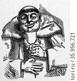 Illustration for a poem by John O'Keefe from 'Penny Readings' Редакционное фото, агентство World History Archive / Фотобанк Лори