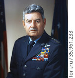 Colour photograph of Curtis Emerson LeMay. Редакционное фото, агентство World History Archive / Фотобанк Лори