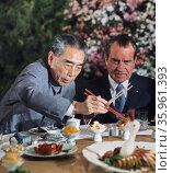 Photograph of President Richard Nixon and Chinese Premier Zhou En Lai. Редакционное фото, агентство World History Archive / Фотобанк Лори