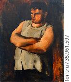 Portrait de Marcel Castel L'Hercule by Jean Fautrier. Редакционное фото, агентство World History Archive / Фотобанк Лори
