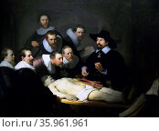 Anatomy Lesson of Dr Nicolaes Tulp 1632. by Rembrandt. Редакционное фото, агентство World History Archive / Фотобанк Лори