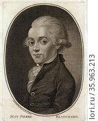 Portrait of Jean Pierre Blanchard. Редакционное фото, агентство World History Archive / Фотобанк Лори