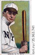 Mike Donlin, New York Giants, Baseball card portrait. Sponsor : American tobacco company. Редакционное фото, агентство World History Archive / Фотобанк Лори