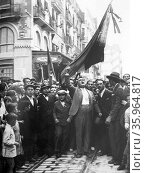 Spontaneous street demonstration in support of the republic in Spain 1930. Редакционное фото, агентство World History Archive / Фотобанк Лори