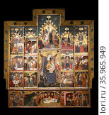 Altarpiece of the Virgin by Jaime Serra. Редакционное фото, агентство World History Archive / Фотобанк Лори