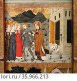 Altarpiece of Saint Stephen by Jaime Serra. Редакционное фото, агентство World History Archive / Фотобанк Лори