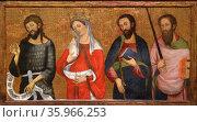 Tables Altarpiece of the Virgin by Pere Serra. Редакционное фото, агентство World History Archive / Фотобанк Лори