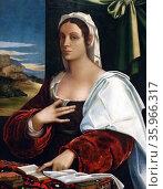 Portrait of Vittoria Colonna by Sebastiano del Piombo. Редакционное фото, агентство World History Archive / Фотобанк Лори