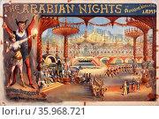The Arabian nights, or Aladdin's wonderful lamp. Theatre poster 1916. Редакционное фото, агентство World History Archive / Фотобанк Лори