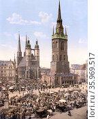 The market place, Halle, German Saxony, Germany. Редакционное фото, агентство World History Archive / Фотобанк Лори