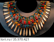 18th Dynasty Egyptian beaded collar from a royal or noble personage. Редакционное фото, агентство World History Archive / Фотобанк Лори