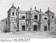 Illustration of the Santo Domingo Monastery. Редакционное фото, агентство World History Archive / Фотобанк Лори