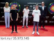 Adrian Baena, Juan del Pozo and Raul del Pozo attends to 24th Malaga... Редакционное фото, фотограф Nacho Lopez / age Fotostock / Фотобанк Лори
