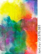 Abstrakte weiche farbige Verläufe in Nass-in-Nass-Technik auf Aquarell... Стоковое фото, фотограф Zoonar.com/wolfgang rieger / easy Fotostock / Фотобанк Лори