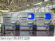 Капсульный отель Aerosleep в аэропорту Внуково. Редакционное фото, фотограф Владимир Сергеев / Фотобанк Лори