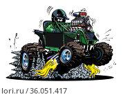 Vector Cartoon Buggy. Стоковая иллюстрация, иллюстратор Александр Володин / Фотобанк Лори