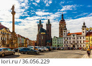 Gothic Cathedral of the Holy Spirit. Hradec Kralove. Czech Republic. Стоковое фото, фотограф Яков Филимонов / Фотобанк Лори