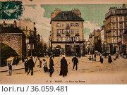 Brest, the place of the doors, postcard 1900. (2009 год). Редакционное фото, фотограф Louis Bertrand / age Fotostock / Фотобанк Лори