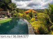 View of the villa on Bali (2018 год). Стоковое фото, фотограф Юлия Белоусова / Фотобанк Лори
