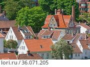 STAVANGER, NORWAY - JUNE 01, 2017: Aerial view of Stavanger in Norway... Стоковое фото, фотограф Zoonar.com/Jiri Vondrous / age Fotostock / Фотобанк Лори