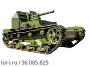 Советская самоходная артиллерийская установка 1934 года выпуска. Стоковое фото, фотограф Евгений Ткачёв / Фотобанк Лори