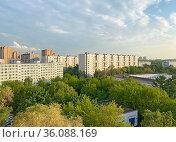 Район Южное Измайлово, Москва. Стоковое фото, фотограф Мария Кылосова / Фотобанк Лори