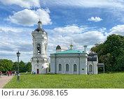 Церковь Георгия Победоносца в Коломенском, Москва. Редакционное фото, фотограф Мария Кылосова / Фотобанк Лори
