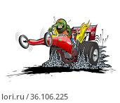 Cartoon dragster. Стоковая иллюстрация, иллюстратор Александр Володин / Фотобанк Лори