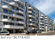 """Berlin, Germany - New construction of condominiums in Pappelallee in Prenzlauer Berg"" Редакционное фото, агентство Caro Photoagency / Фотобанк Лори"