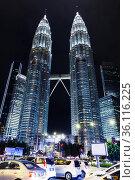 Kuala Lumpur, Malaysia. Petronas Twin Towers (2019 год). Редакционное фото, фотограф EugeneSergeev / Фотобанк Лори