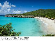 The caribbean beach of Abou beach at Curacao, Netherland Antilles. Стоковое фото, фотограф Marquicio Pagola / age Fotostock / Фотобанк Лори