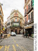 View of the street in Seville (2019 год). Редакционное фото, фотограф Юлия Белоусова / Фотобанк Лори