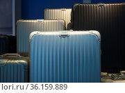 Metal suitcases in a window display. Стоковое фото, фотограф Douglas Williams / age Fotostock / Фотобанк Лори