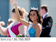 Benton Harbor, Michigan, USA - May 4, 2019: Blossomtime Festival ... Стоковое фото, фотограф Zoonar.com/Roberto Galan / age Fotostock / Фотобанк Лори