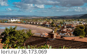 Minehead, Somerset, England, UK - October 01, 2018: View towards ... Стоковое фото, фотограф Zoonar.com/Bernd Brueggemann / age Fotostock / Фотобанк Лори