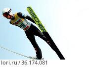 Stefan Huber (SC Seekirchen-Salzburg) beim FIS Sommer Grand Prix ... Стоковое фото, фотограф Zoonar.com/Joachim Hahne / age Fotostock / Фотобанк Лори