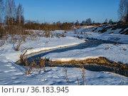 Россия, весеннее таяние снега в поле. Стоковое фото, фотограф glokaya_kuzdra / Фотобанк Лори