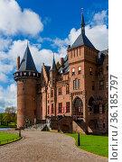 De Haar castle near Utrecht - Netherlands - architecture background. Стоковое фото, фотограф Zoonar.com/Nikolai Sorokin / easy Fotostock / Фотобанк Лори