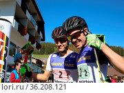 Deutsche Team-Meister: v.li. Manuel Feisst und Fabian Riessle (SZ... Стоковое фото, фотограф Zoonar.com/Joachim Hahne / age Fotostock / Фотобанк Лори