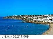 Luz an der Algarve Küste, Praia da Luz, Portugal / Luz at the Algarve... Стоковое фото, фотограф Zoonar.com/Georg / age Fotostock / Фотобанк Лори