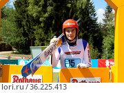 David Siegel (SV Baiersbronn) beim Teamwettkampf Skisprung DM 2018... Стоковое фото, фотограф Zoonar.com/Joachim Hahne / age Fotostock / Фотобанк Лори
