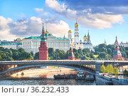 Башни и храмы Кремля в Москве (2020 год). Стоковое фото, фотограф Baturina Yuliya / Фотобанк Лори