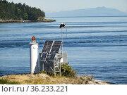 Porlier Pass, Galiano Island, Gulf Islands, British Columbia, Canada. Стоковое фото, фотограф Douglas Williams / age Fotostock / Фотобанк Лори